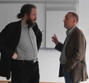 Diskutierten über die Bildungspolitik: Ulrich Heinen und Clemens Höxter