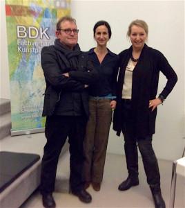 Vorstand des BDK-SH (v.l.): Dr. Markus Herschbach, Martina Ide, Astrid Krichel. Jutta Johannsen und Regina Troschke komplettieren das Team.