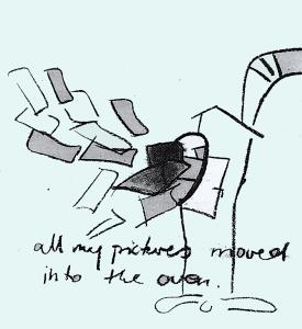 """""""Flaute im Zeichensaal"""" schon 2007 war dies ein Thema. Zeichnung aus den Informationen des BDK SH von Birgit Joost"""